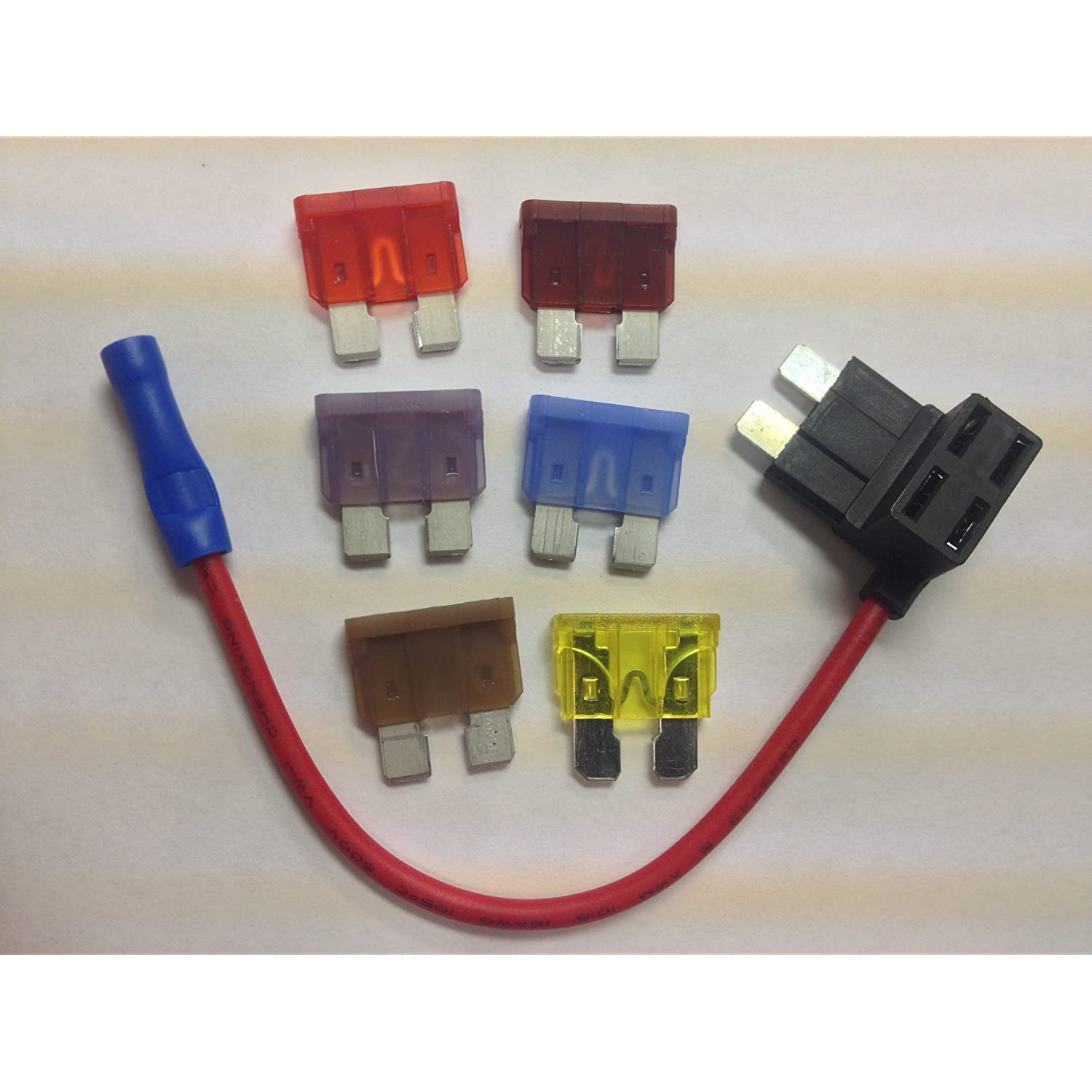 Fuse Box Terminal Adapter All Kind Of Wiring Diagrams Tap Ato Atc 6 Fuses Add On Dual Circuit Auto Car Ebay To Relay Jd 5603