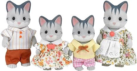 Sylvanian Families - 3551 - Mini-Poupée - Famille Chat - Gris