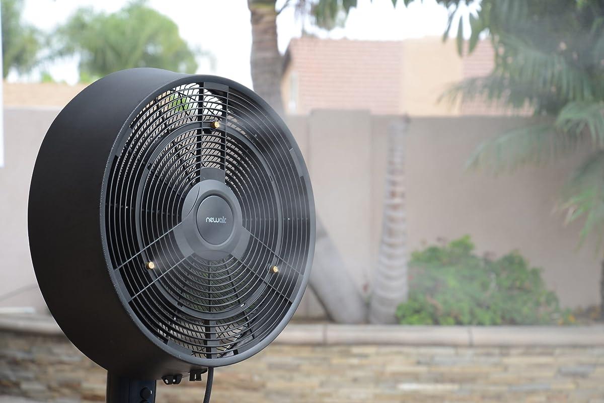 NewAir AF-520B Oscillating Outdoor Misting Fan, 18-Inch, Black