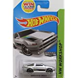 COROLLA AE-86 Hot Wheels ZAMAC HW-Workshop Series Toyota AE-86 Corolla RARE 1:64 Scale Collectible Die Cast Metal Toy Car Model # 222/250 (Color: Zamac, Tamaño: 1:64 Scale ~ 3