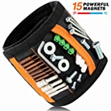 JIANYI Magnetic Wristband with Super Strong Magnets for Holding Screws, Nails, Drill Bits - Best Unique Gift for Men, Women, DIY Handyman, Father/Dad,