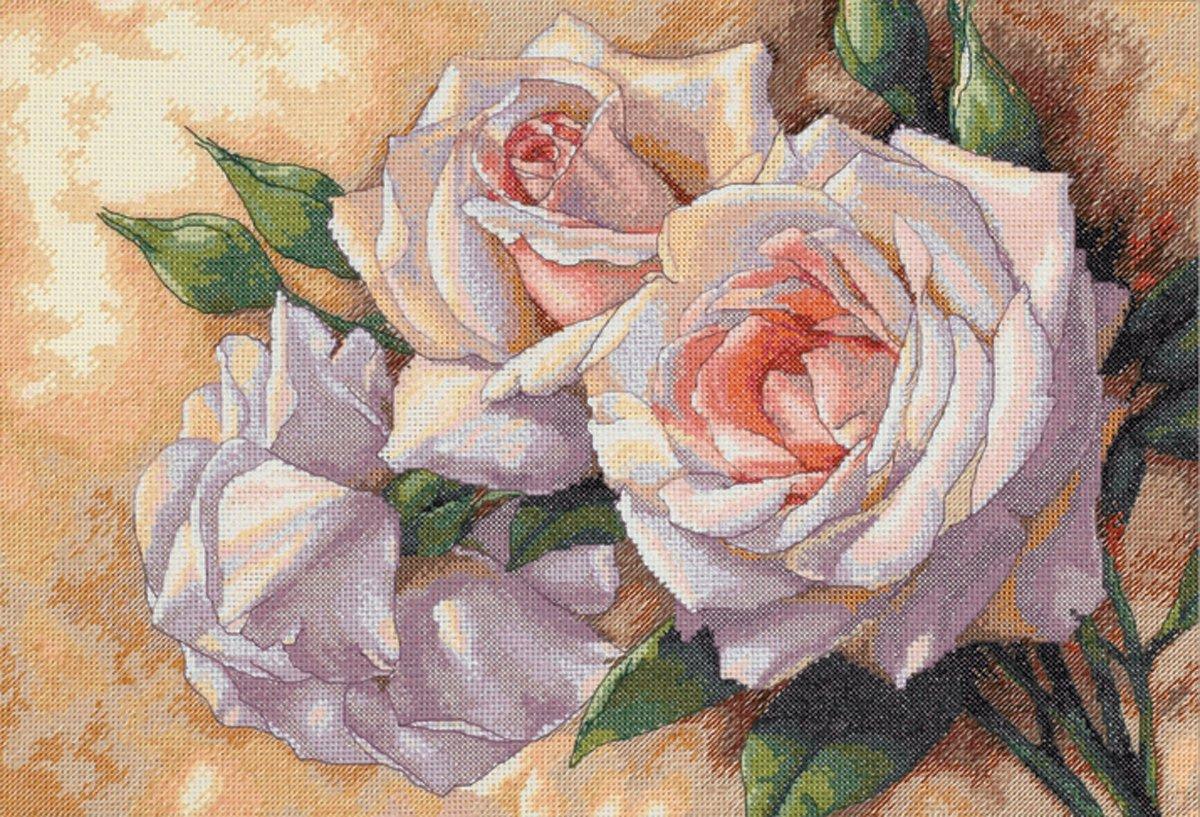 Схема вышивки бисером розы фото 693