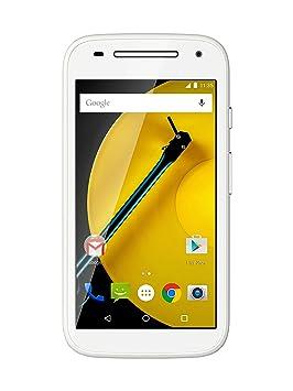 Motorola Moto E (2e génération) Smartphone débloqué (Ecran: 4.5 pouces) Blanc (import Italie)
