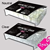 beYou 2PACK Coffin 500 Artificial Fake Nail Tips(Total 1000tips))10Sizes With Clear Plastic Cases,Long Ballerina Nails Full Cover Acrylic Nail Tips For Nail Salon Nail Shop (Coffin)