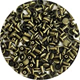 Springfield Leather Company's Antique Brass Small Double Cap Rivets 100pk (Color: antique brass)