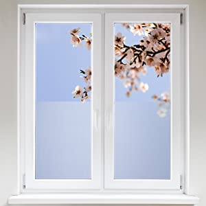 Artefact® Dekofolie / Fensterfolie Milchglas | statisch haftend (ohne Kleber) | verschiedene Größen  BaumarktKritiken und weitere Informationen