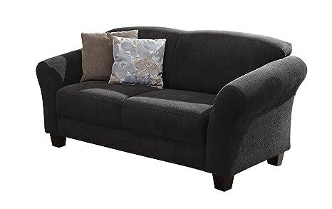 Cavadore 5219 2-Sitzer Ecksofa, Schaumstoff, dunkelgrau, 163 x 89 x 84 cm