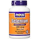 NOW Foods Selenium 200 mcg VCaps, 180 ct (Tamaño: 180 Count)