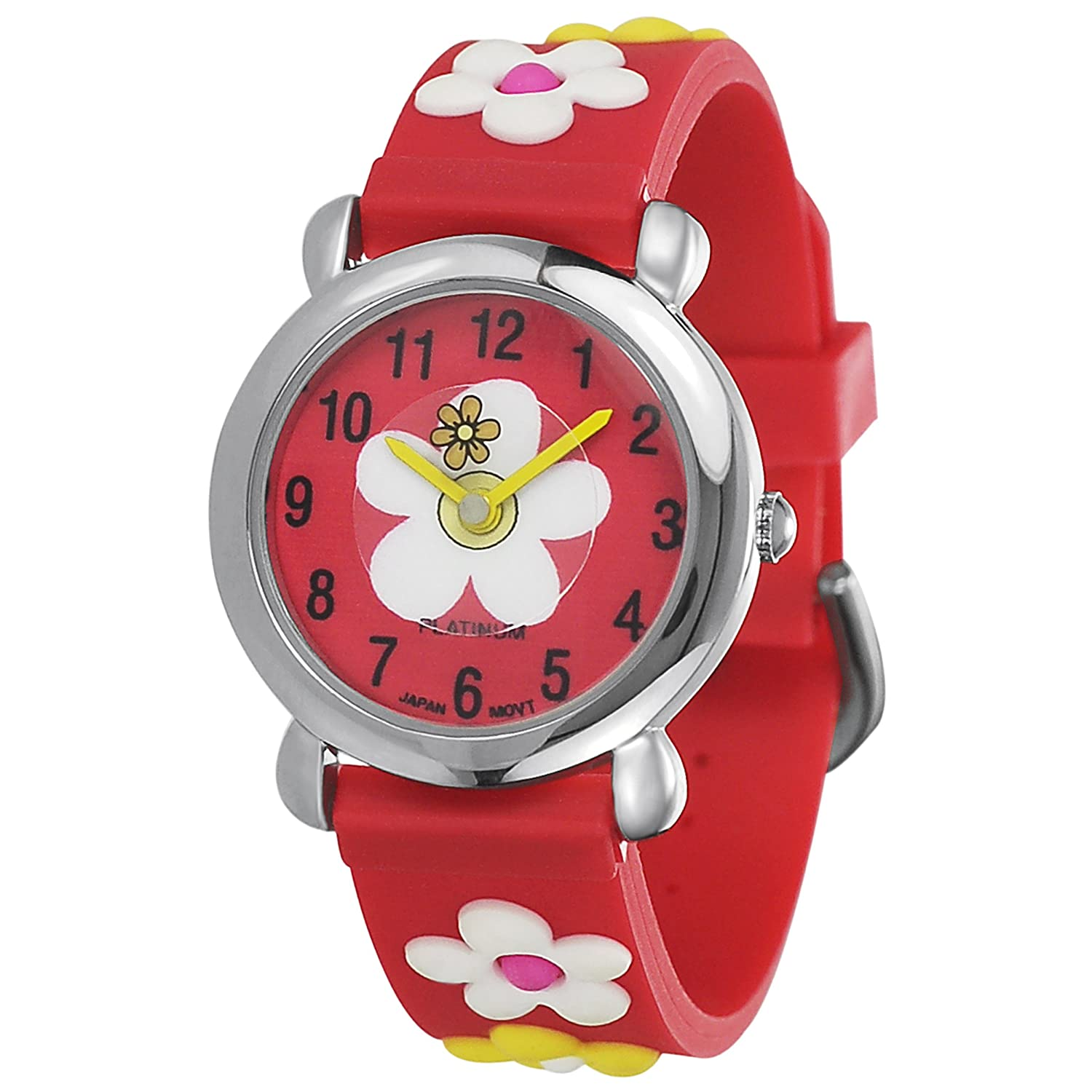 GP by Brinley Co Red Girls Silicone Watch