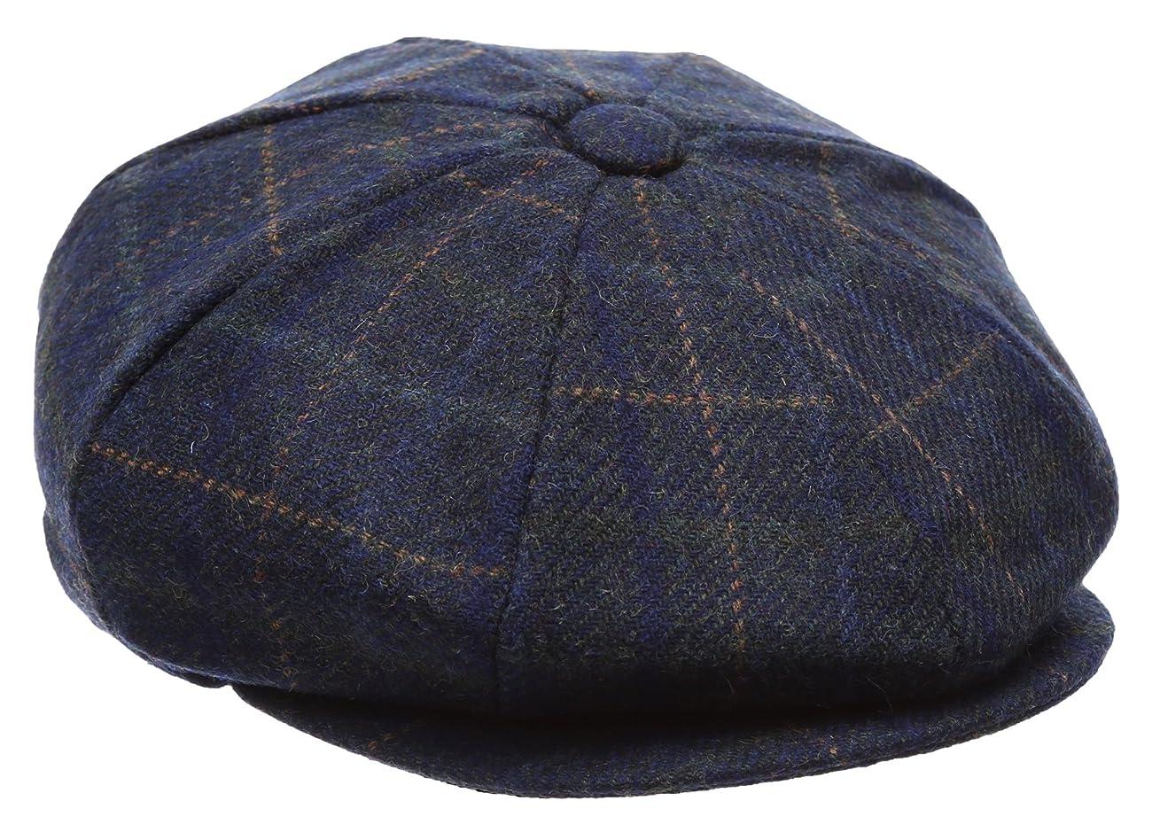 Men's Premium 100% Wool 8Panels Plaid Herringbone Newsboy Hat With MIRMARU Socks. 1