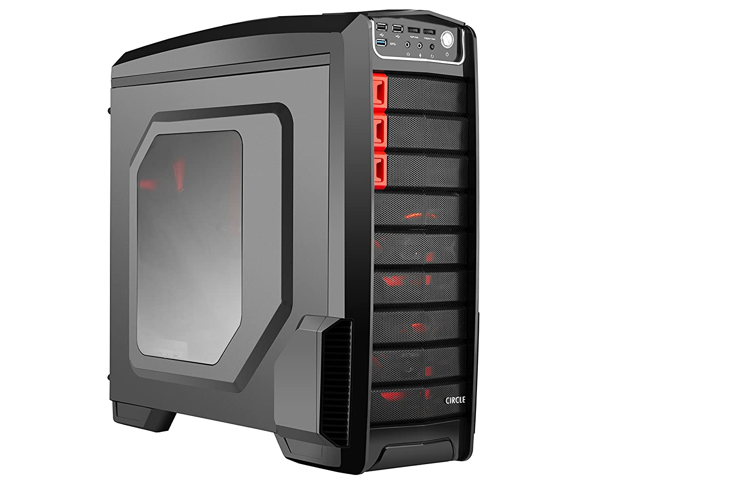 Circle CC 830 Professional Gaming Cabinet (without SMPS) Black