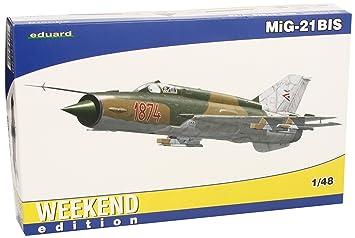 Eduard EDK84131 MiG-21 BIS 1:48 Weekend Edition Plastic Kit Maquette