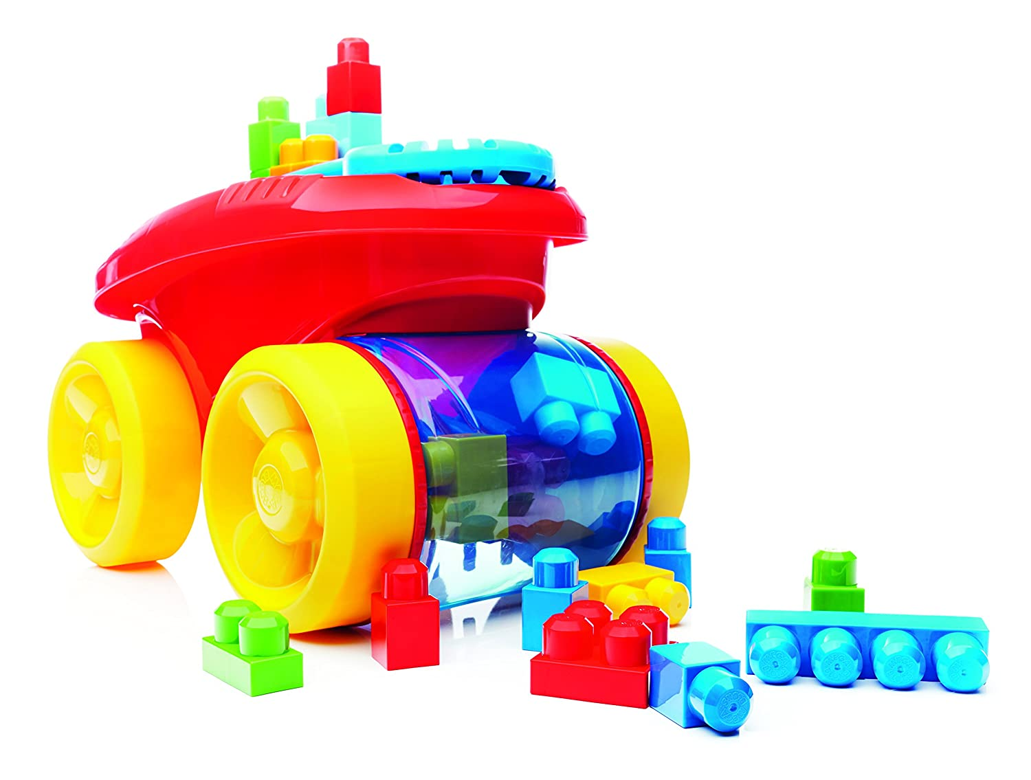 Mega Bloks First Builders Block Scooping Wagon Building Set, Red