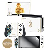 Nintendo Switch Skin & Screen Protector Set Officially Licensed by Nintendo - The Legend of Zelda: Breath of the Wild: