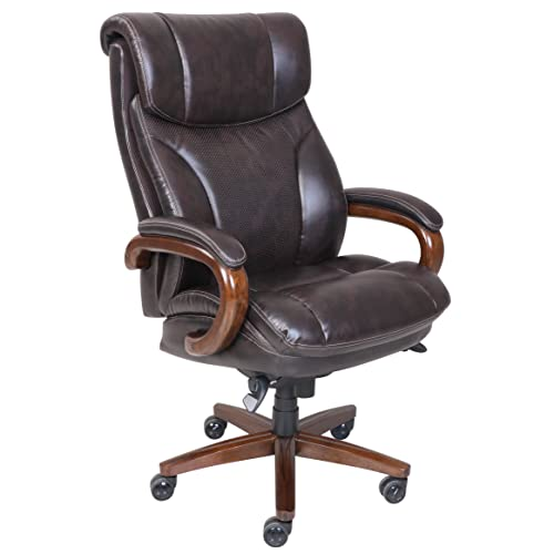 La-Z-Boy® 45782 Trafford Big & Tall Executive Bonded Leather Office Chair - Vino (Brown)