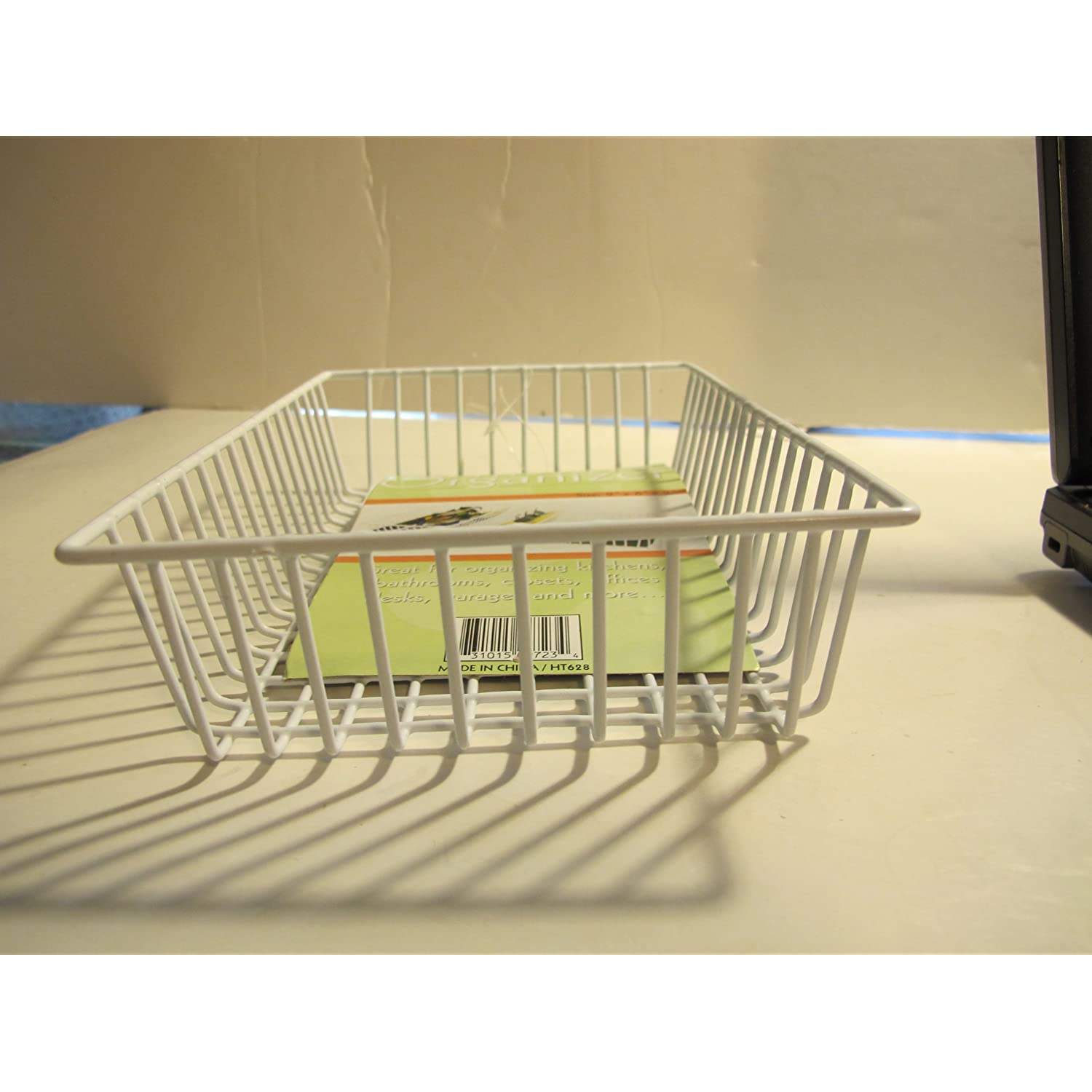 Drawer Organizer Basket. 6x9x2 inches. Plastic Coated Wire. great for organizing kitchens, bathrooms, closets, offices and many other places. by Drawer Organizers
