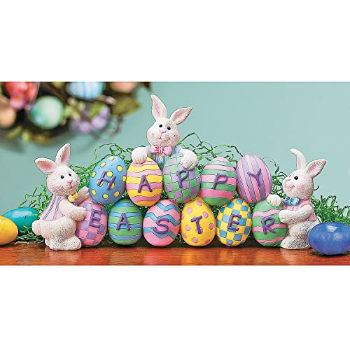 Bunnies with Easter Eggs Decorative Centerpiece