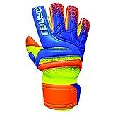Reusch Soccer Prisma Prime S1 Evolution Finger Support Goalkeeper Gloves (Color: Orange Palm, Tamaño: 8)