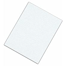 TOPS Quadrille Pads, 5 Squares per Inch, 8.5 x 11 Inches, Medium Weight, 50 Sheets per Pad, 12-Count, White, (3315)