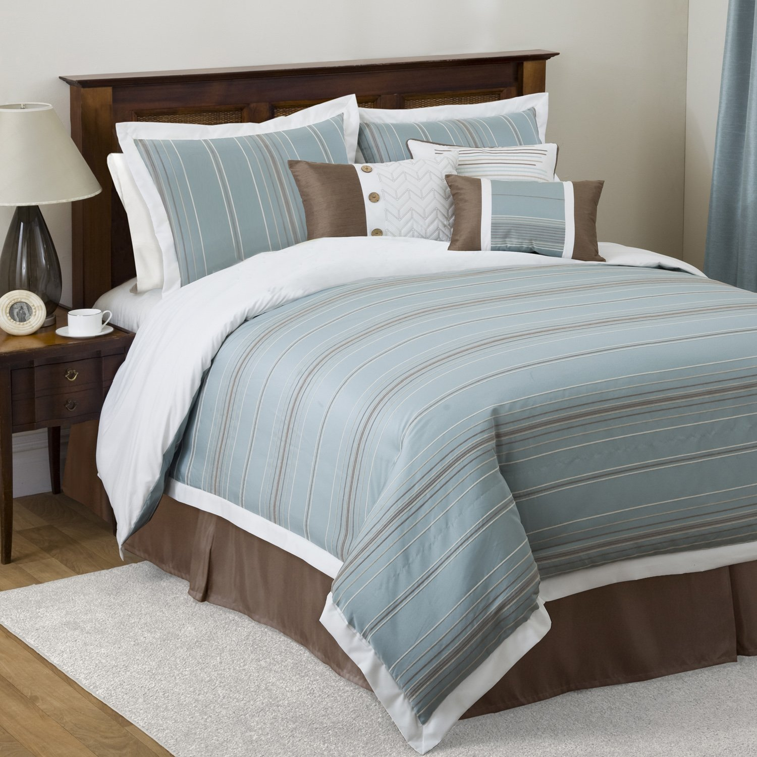 Blue and brown bed sets home decor gallery for Bed settings