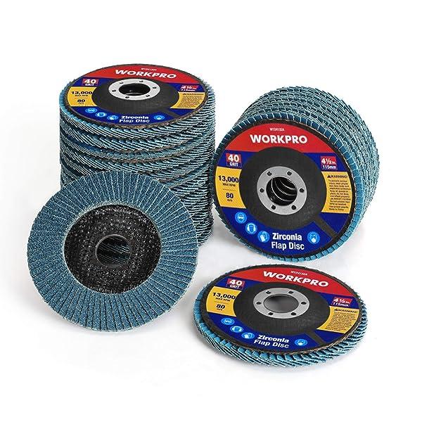 "20 New 4-1//2/"" 80 Grit Flat Flap Disc Grinding Sanding Wheels 7//8/"" Arbor"