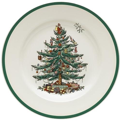 Spode Christmas Tree 10-1/2-Inch Dinner Plates Set of 4
