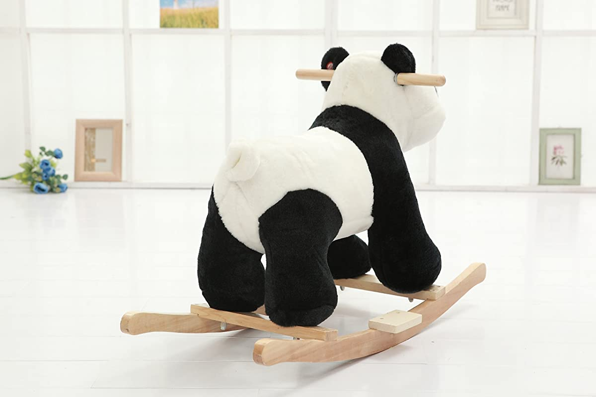 DanyBaby Rocking Animal Ride On Rocking Plush Panda