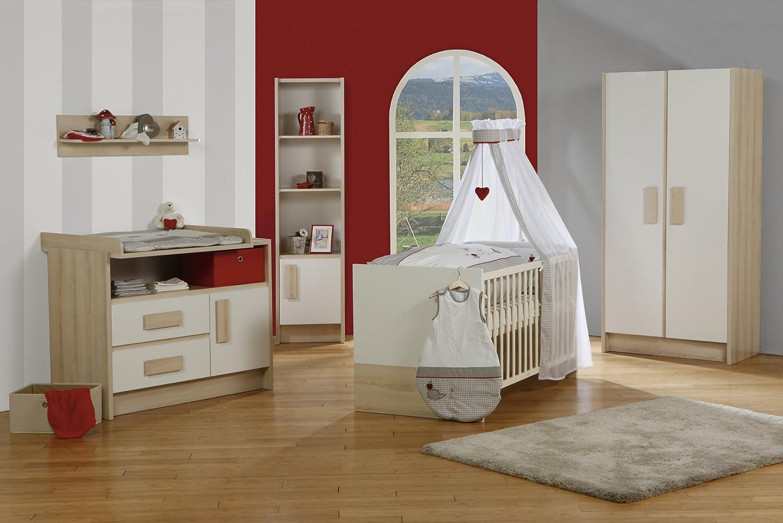 """roba 54302 Kinderzimmerset """"Lotta"""" mit 2-türigen Schrank und breiter Wickelkommode, 5-teilig"""