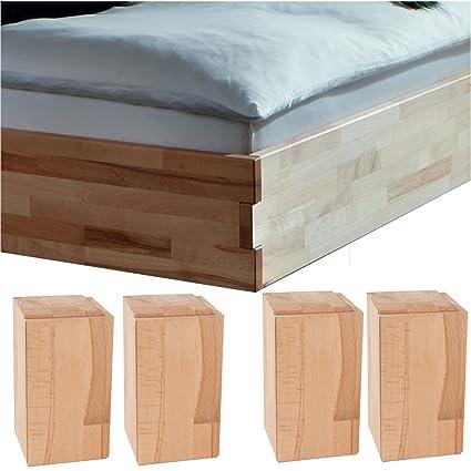Dico Massivholz Bettrahmen ohne Kopfteil 326.41 gezapft Größe 160 x 210 cm
