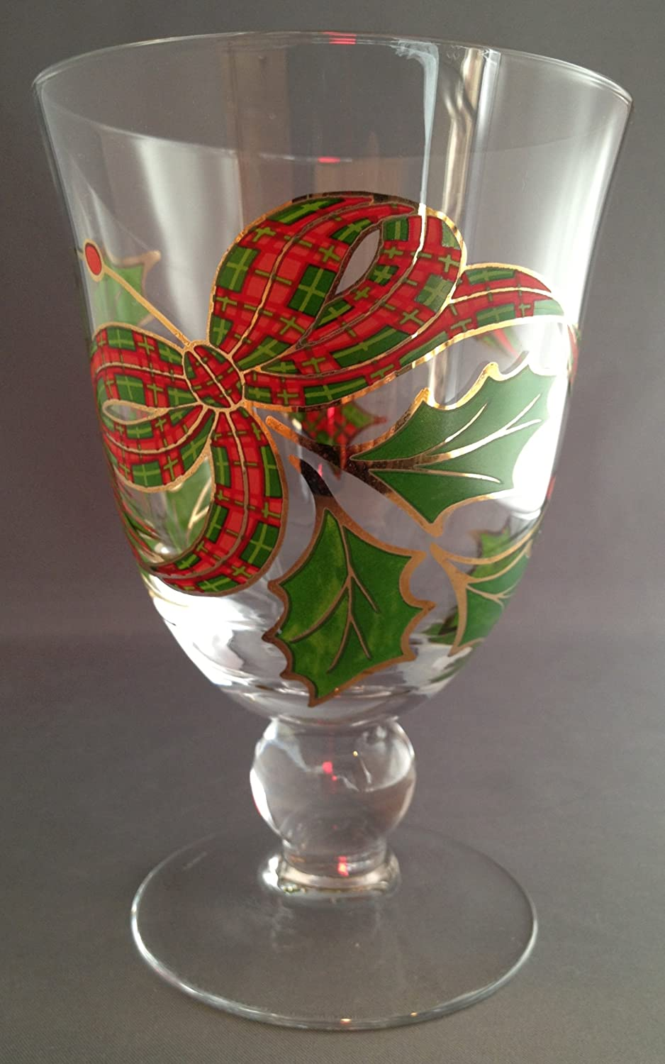 Holiday Plaid Wine Glasses | Christmas Wikii