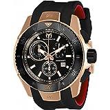 Technomarine Men's 'UF6' Quartz Gold and Silicone Casual Watch, Color:Black (Model: TM-616005)