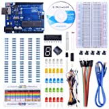 UNIROI UNO Starter Kit for Arduino with Free Tutorials, Frame Sensor, 1 Digit 7-Segment Display, Resistance Card, Breadboard, 65 Jumper Wire and Buzzer (147 Items with case) UA002 (Color: Arduino UNO Starter Kit)
