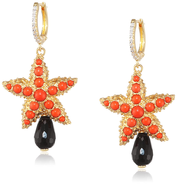 Misis Damen-Ohrringe Moorea 925, Silber, Vergoldet, Zirkonia Rundschliff weißcOnyx Opal 4.5 cm – OR09202RO online kaufen