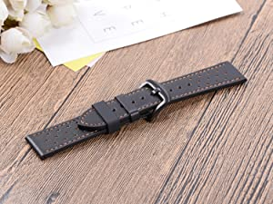 6Pieces Rubber Watch Band Strap Loops Black Silicone Replacement Resin Watch Bands Keeper Holder Retainer Size 20mm with Spring Bar Tools (Color: Black, Tamaño: 20mm)