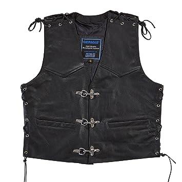 Germas 731. 01-54 XL crochet-mousqueton en cuir avec lacets sur le côté et en v :  noir, taille XL
