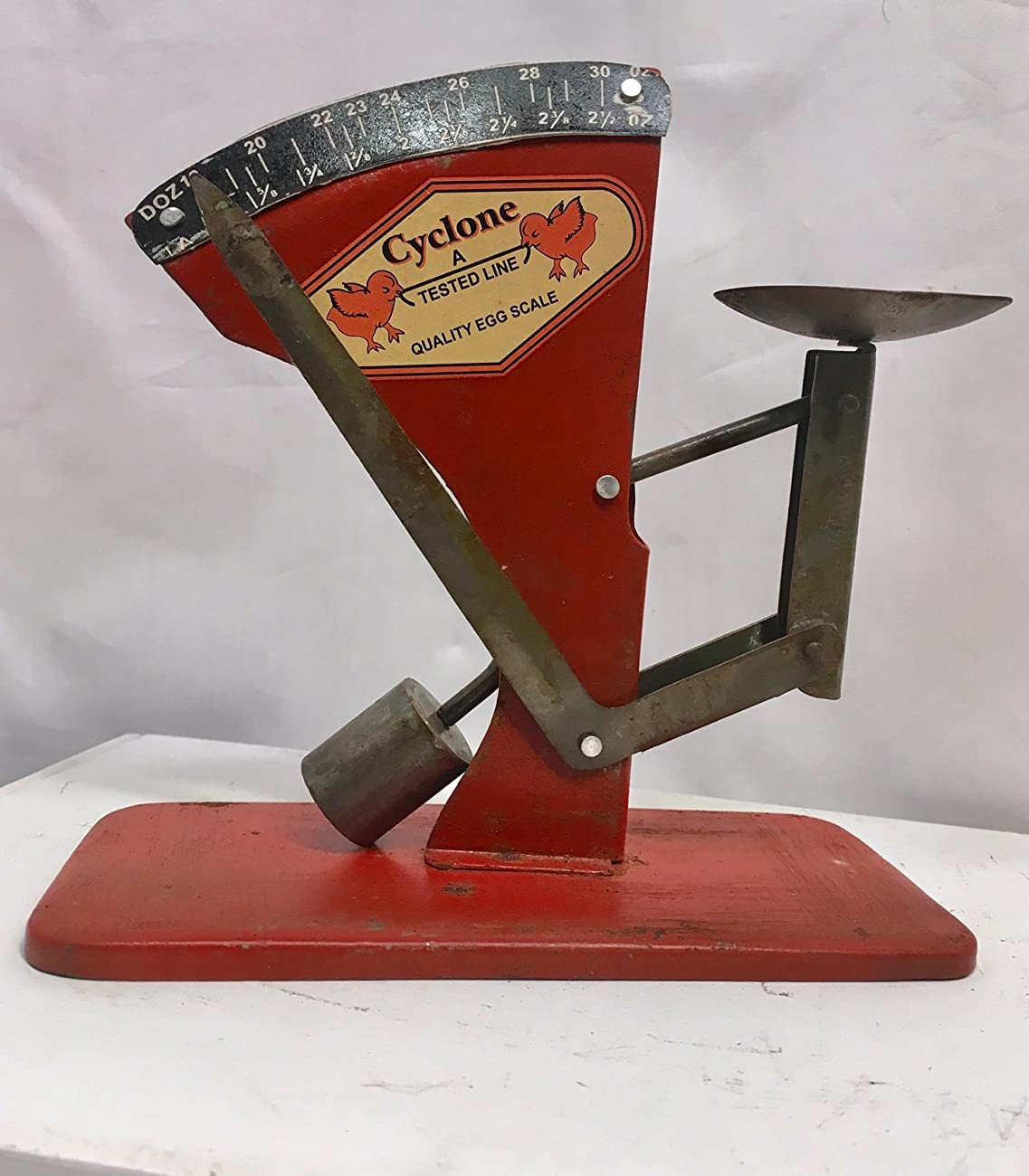 Egg Scale Poultry Antique Style Cyclone Hen Chicken Sizer Primitive #537 0