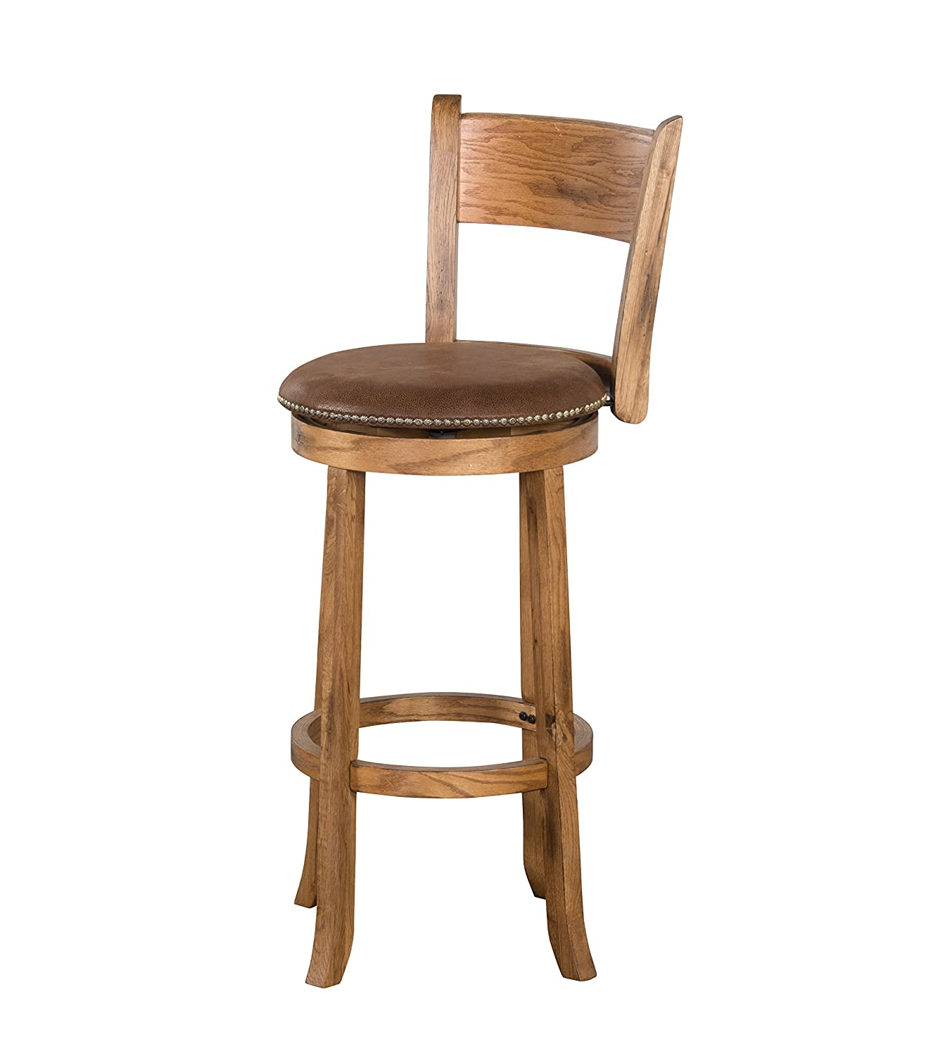 Sunny Designs 24 Inch Sedona Swivel Stool With Back In