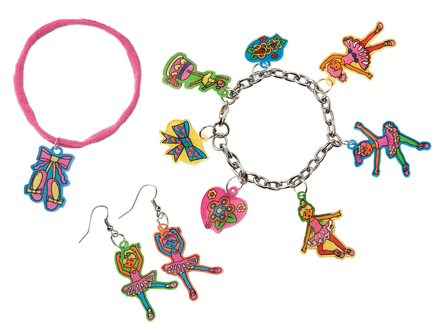 Do-it-Yourself Wear! Shrinky Dinks Ballerina Jewelry