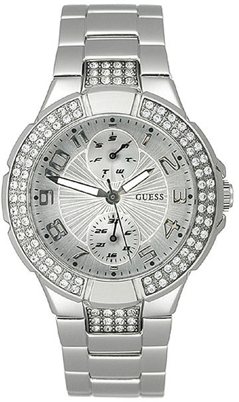 GUESS U12003L1 Status In-the-Round Watch - Silver сумка guess 8595959 rikki e w status satchel black