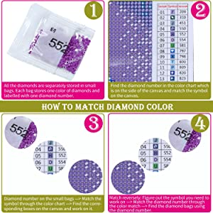 Artoree DIY 5D Diamond Painting by Number Kit for Adult, Full Drill Diamond Embroidery Dotz Kit Home Wall Decor-14x20 Aurora (Color: Aurora)
