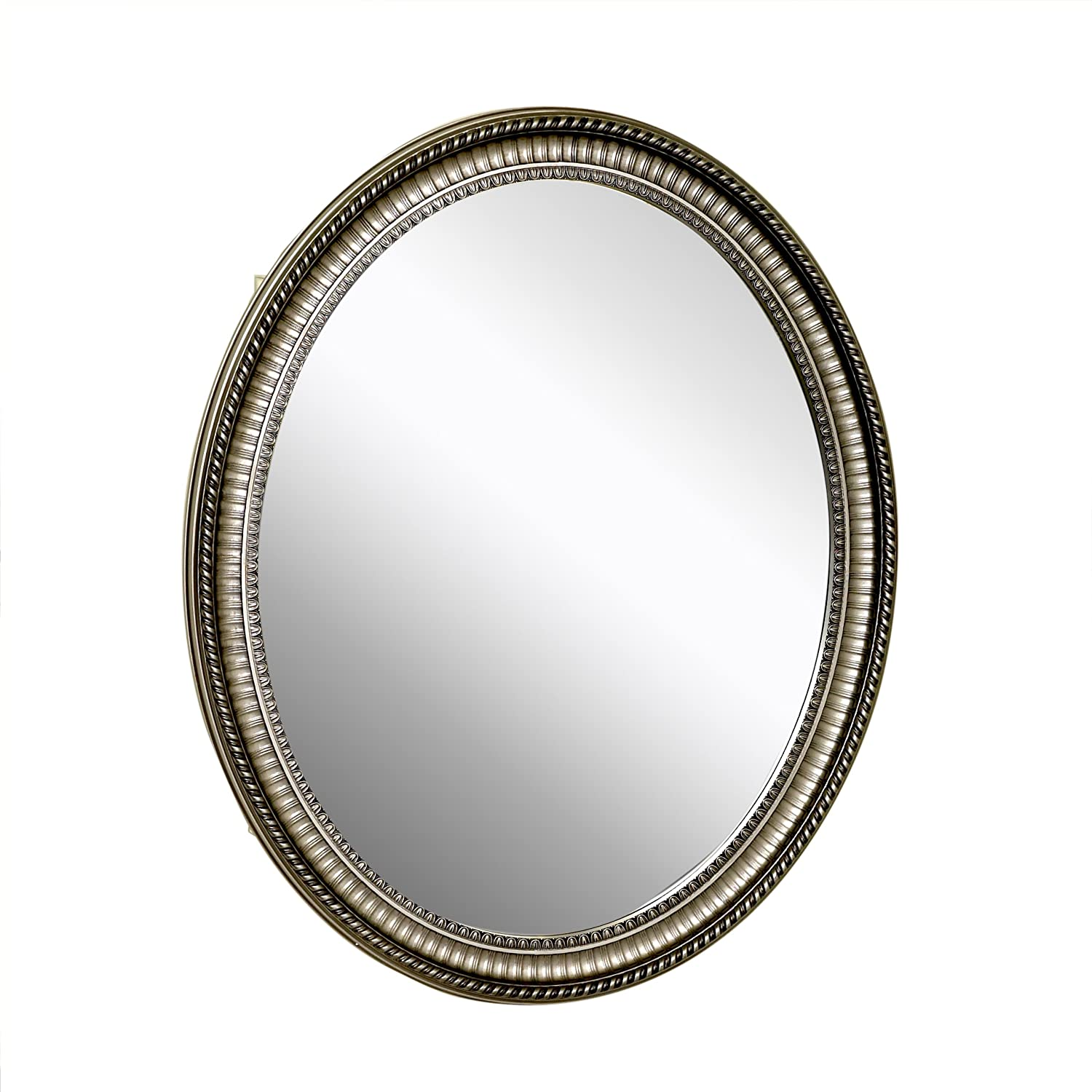 Zenith Products Pmv2532bb Oval Mirror 25 X 32 Medicine Cabinet Antique Pewter at Sears.com