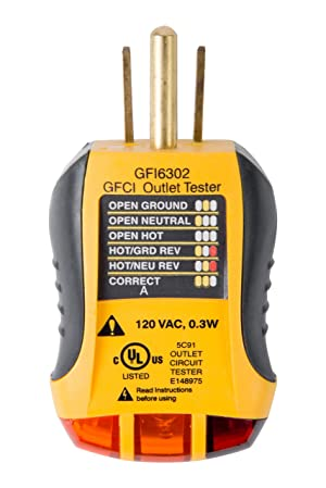 Sperry Instruments GFI6302 GFCI Outlet Tester