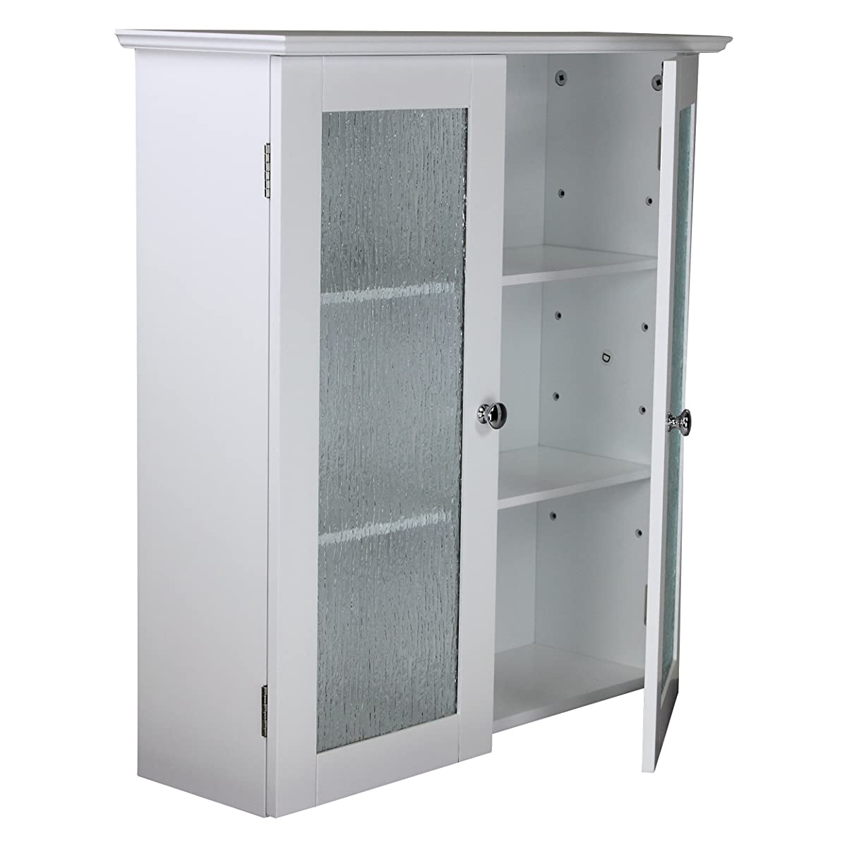 Elegant Home Fashions Rain Collection Wall Cabinet with 2 Glass Door