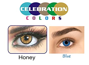 celebration honey and blue monthly color contact lenses pack of 2 - Color Contacts Amazon