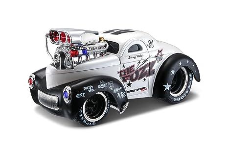 Maisto - 2043071 - Maquette De Voiture - Willys '41 - Blanc/noir - Echelle 1/24