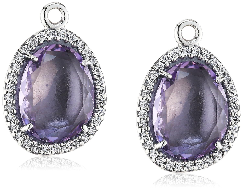 Pandora Damen-Ohrhänger 925 Sterling Silber Amethyst violett 290681AM jetzt kaufen