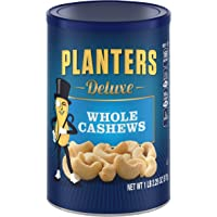 Planters Deluxe 18.25oz Whole Cashew Nuts Canister