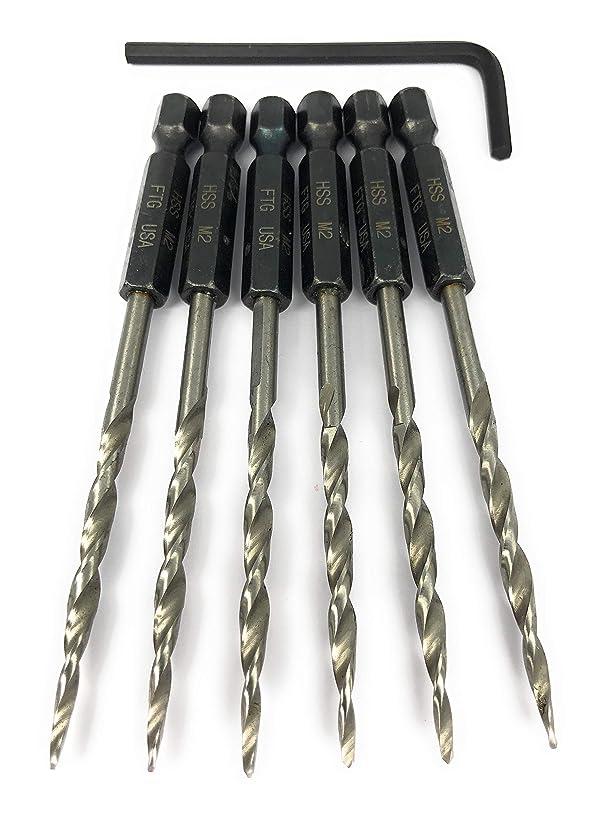 KSEIBI 685376 Quick Change Countersink Drill Bits Set 5 Piece