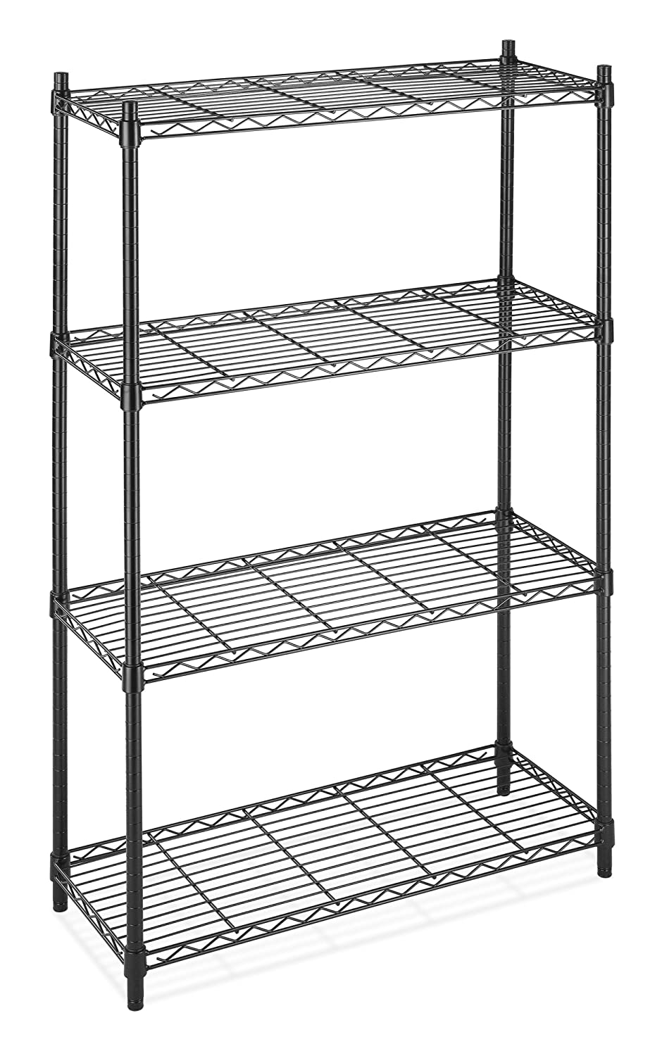 5 tier 4 shelves steel wire storage rack industrial. Black Bedroom Furniture Sets. Home Design Ideas