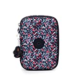 Kipling 100 Pens Pencil, Essential Everyday Case, Zip Closure, Glistening Poppy Blue (Color: Glistening Poppy Blue, Tamaño: One Size)